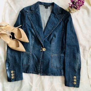 Banana Republic Jean Blazer